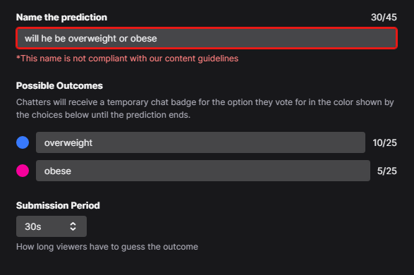 Twitch obese ban