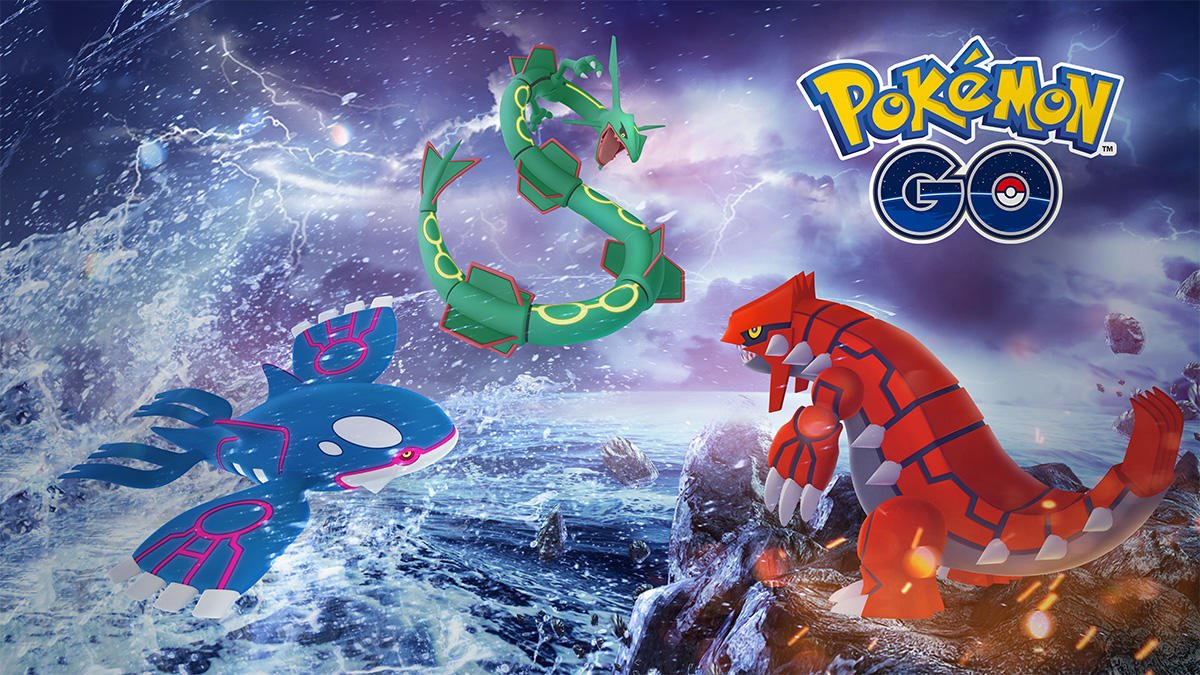 Rayquaza, Groudon, and Kyogre