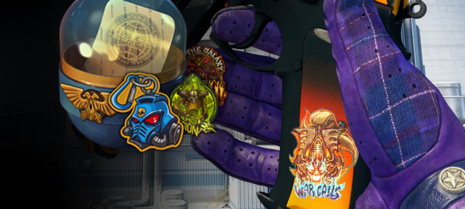 CSGO's Warhammer sticker capsules have some awesome scrapes